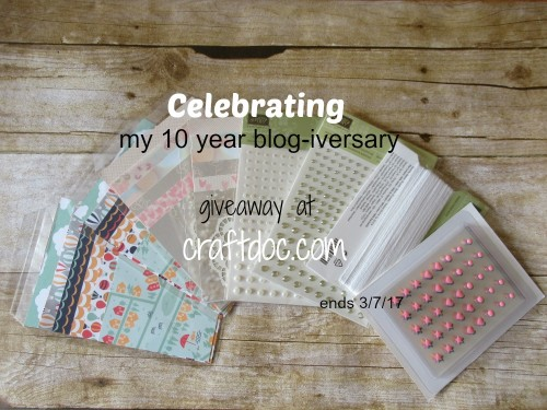craftdoc blogiversary givaway