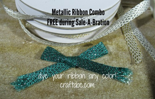 metallic ribbon dyed craftdoc Stampin Up