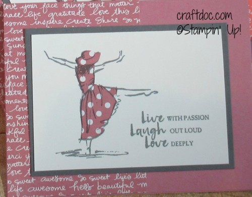 Stampin Up Beautiful You close
