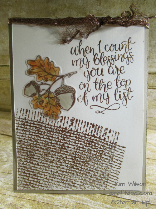 copper count my blessings stampin up