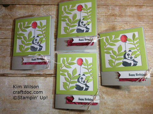 Party Pandas, Stampin' Up, Sale-a-bration