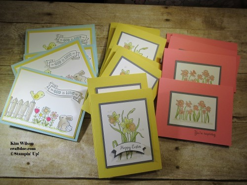 Easter cards, Stampin' Up, You're Inspiring, Mother's Day, Garden Girl