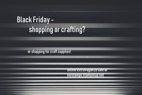 black friday sale, Stampin' Up!