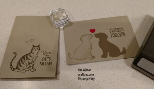 Valentine's Day Cards, Stampin' Up!, Nine Lives, Happy Tales