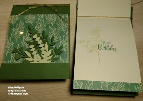 Stamping Ferns and Greenery