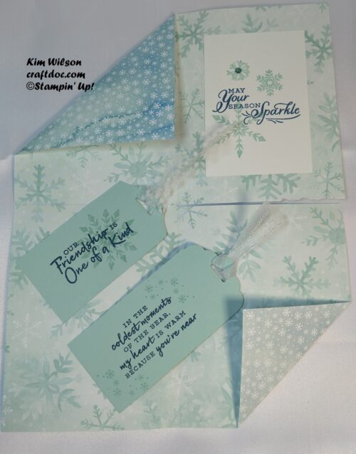 Double Pocket Card Tutorial, Stampin' Up!, Snowflake Wishes